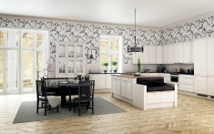 Scandinavian inspired Kitchen with romance and charm